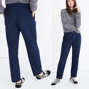 Madewell Track Trousers  Pinstripe Blue Pants XL